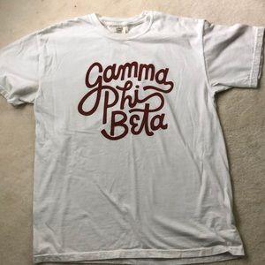 Comfort Colors Tops - White gamma phi beta T-shirt
